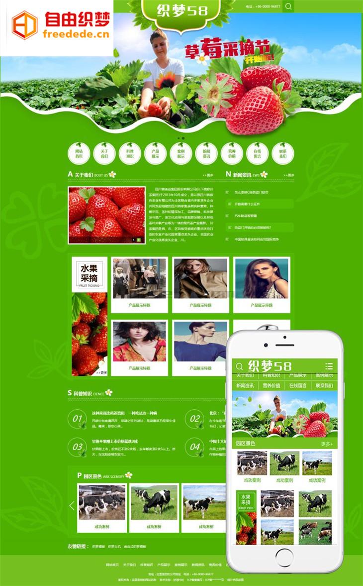 爱上源码网文章营销型绿色水果蔬菜类织梦模板(带手机端)整站源码下载的内容插图