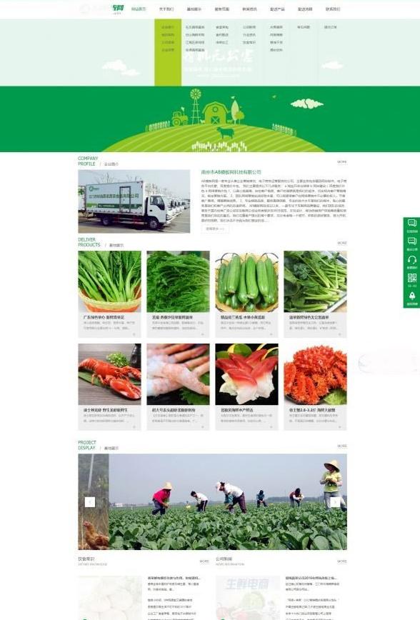爱上源码网文章织梦dedecms绿色果蔬配送网站模板(带手机移动端)的内容插图